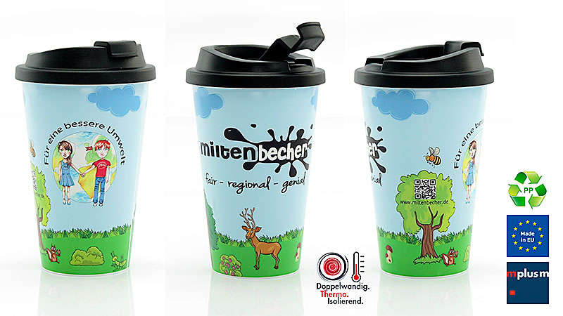Coffee To Go Mehrweg Becher Aus Kunststoff Mit Logo Bedrucken