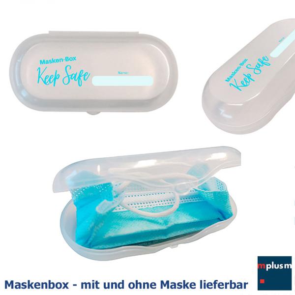 Maskenbox 'Safe' mit oder ohne Mundschutz Maske