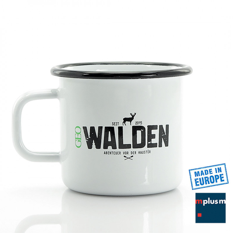 Emaille Tasse aus Europa mit Logo bedrucken