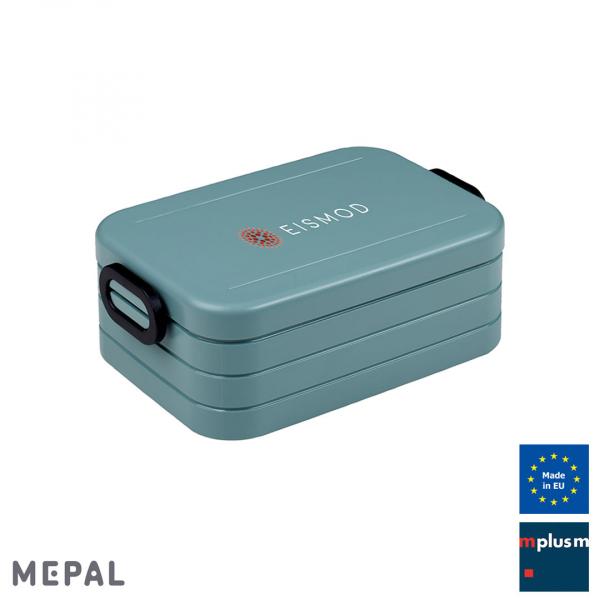 Praktische Brotzeitbox Take a Break von Mepal mit Logo bedrucken