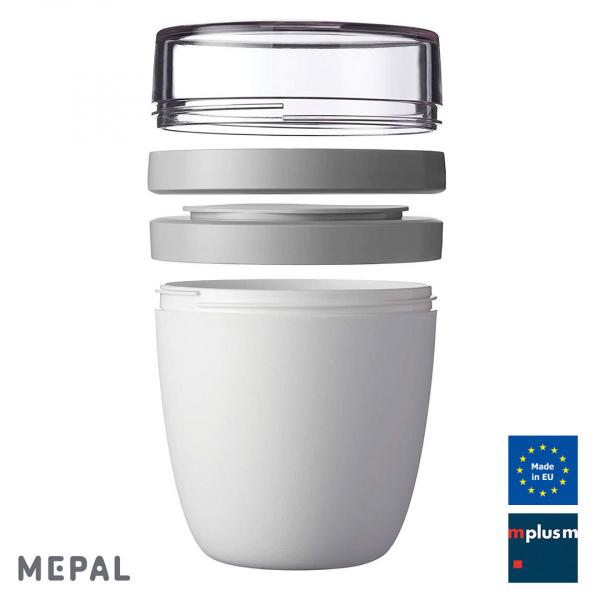 Schöne und praktische Bento Box aus Europa: Ellipse von Mepal. Nachhhaltig Mehrweg und toll mit Logo zu bedrucken.