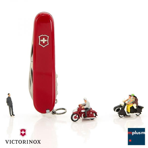 Schöner, praktischer und nachhaltiger Werbeartikel: Das klassische Schweizer Taschenmesser Spartan von Victorinox. Mit Logo zu bedrucken.