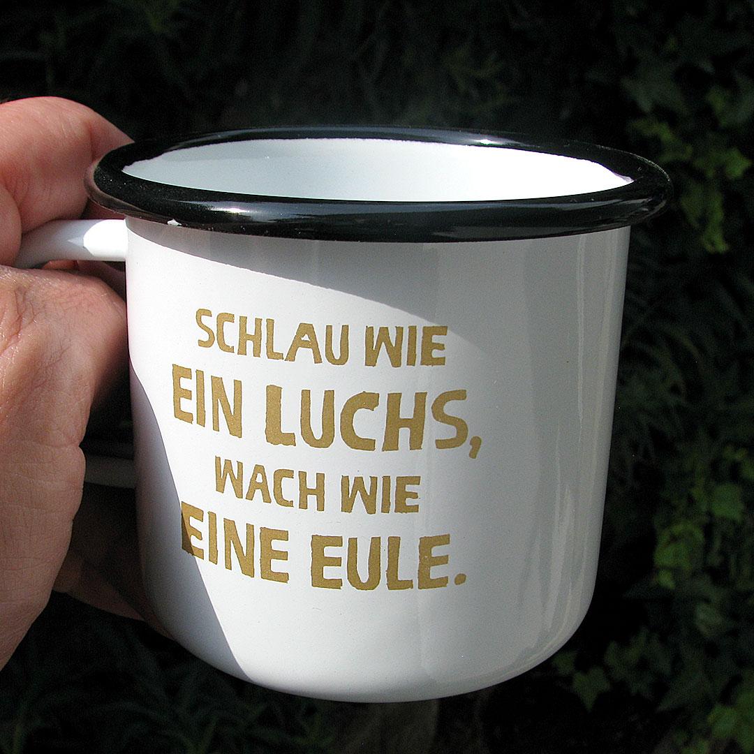 Emaille tasse aus Europa bedrucken