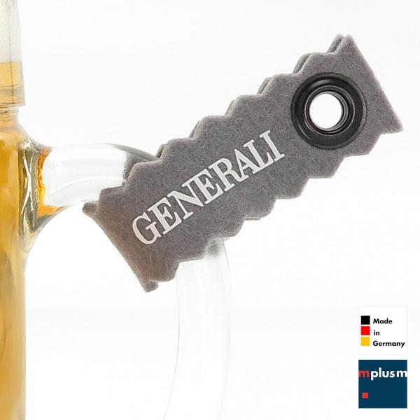 Maßkrugband Schlüsselanhänger aus Wollfilz
