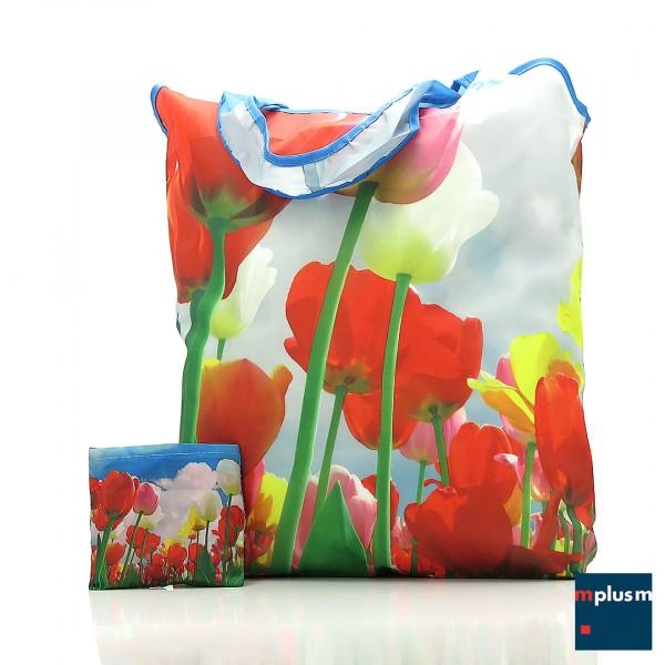 Falt-Einkaufstasche aus RPET Recycling Material