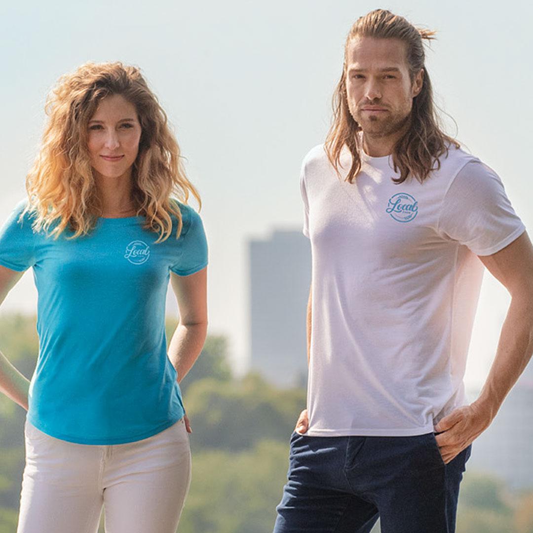 Nachhaltige Teambekleidung T Shirt mit Logo bedrucken