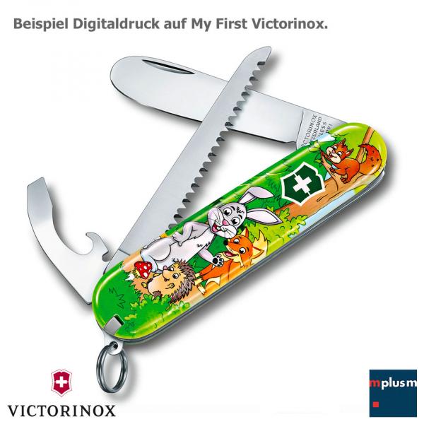 Victorinox Schweizer Taschenmesser für Kinder mit vollfarbigem Digitaldruck im eigenen Design.