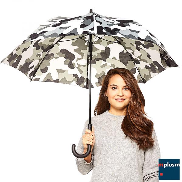 Werbeartikel Schirm im Camouflage Design. Ab 48 Stück mit Logo Druck.