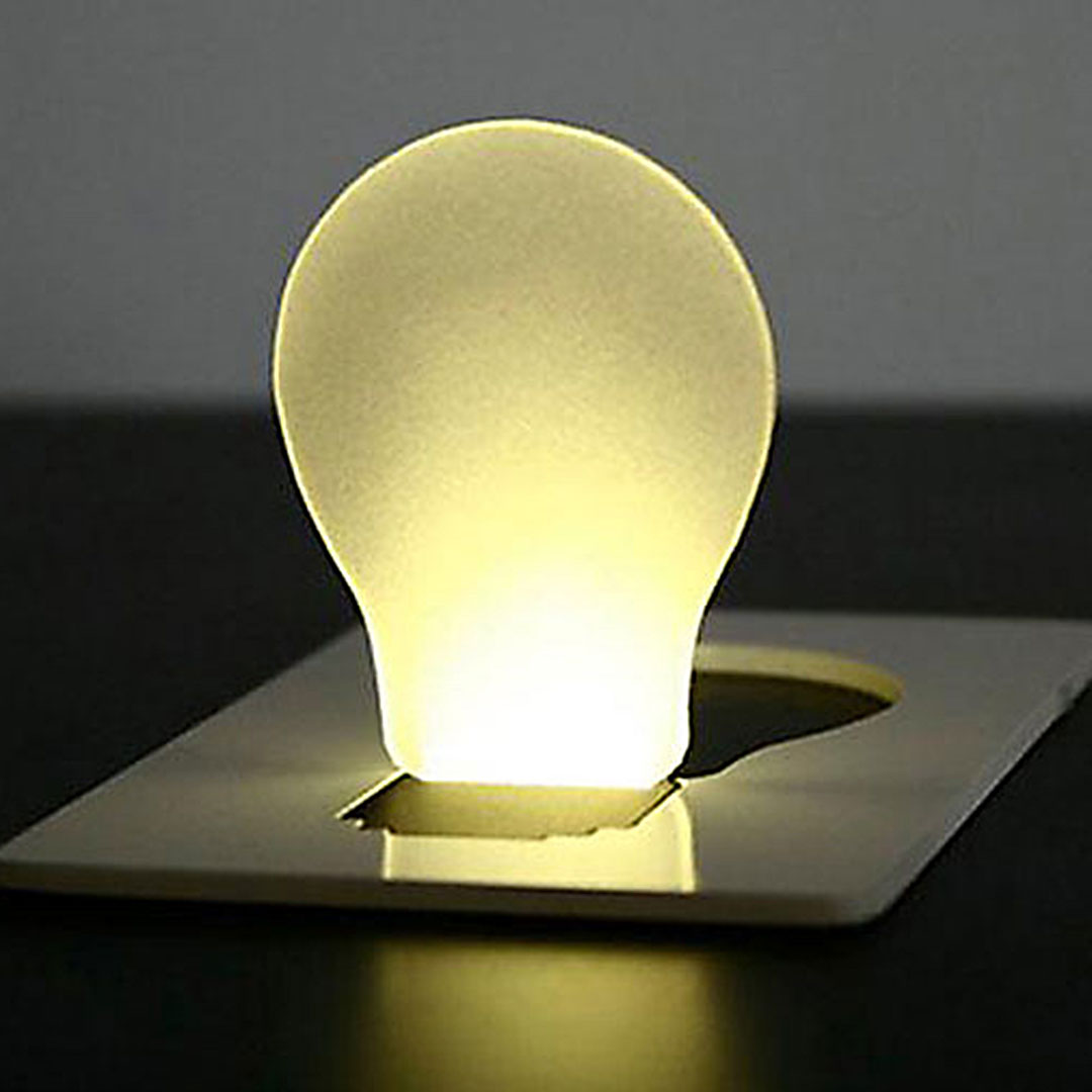 Flache LED Taschenlampe für Mailing mit Logodruck