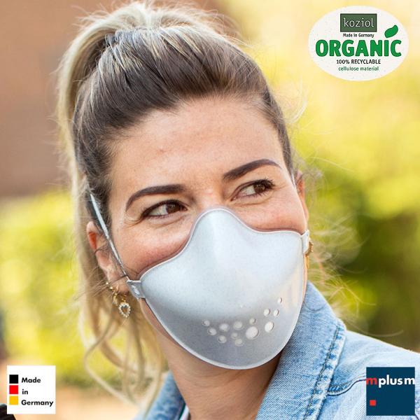 Praktische Gesichtsmaske: Community Maske » Hi von Koziol. Leicht zu reinigen und gut mit Logo zu bedrucken.