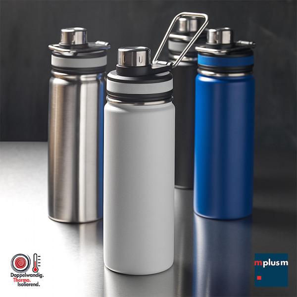 Thermosflasche bzw. Trinkflasche doppelwandig kupferisoliert als Werbeartikel mit Logo zu bedrucken.