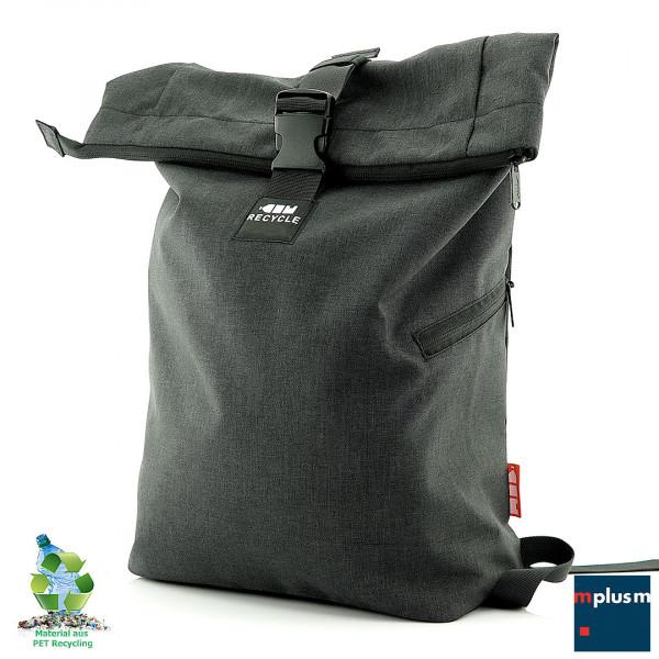 Schöner Rucksack aus Recycling Material (8 PET Flaschen). Mit Laptopfach und ab 50 Stück mit Logo zu bedrucken.