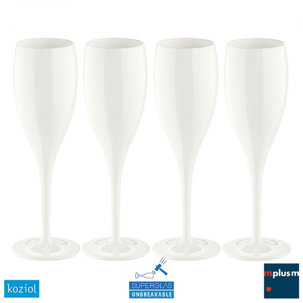 Cheers No. 1 Sektglas von Koziol als Werbeartikel in weiss.
