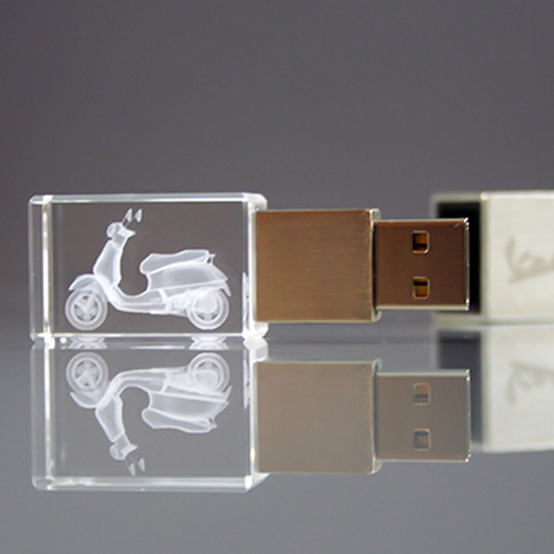 Kristall USB-Stick als Werbeartikel