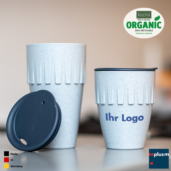 Mehrweg Coffee To Go aus Organic Kunststoff mit Werbung bedrucken!