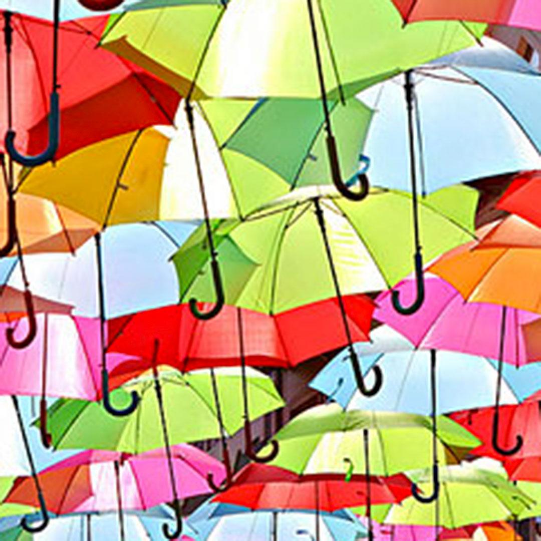 Regenschirme als Werbemittel