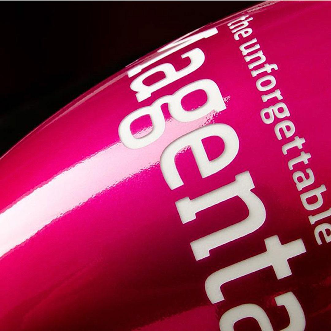 Rote Porzellantasse mit Logo bedrucken