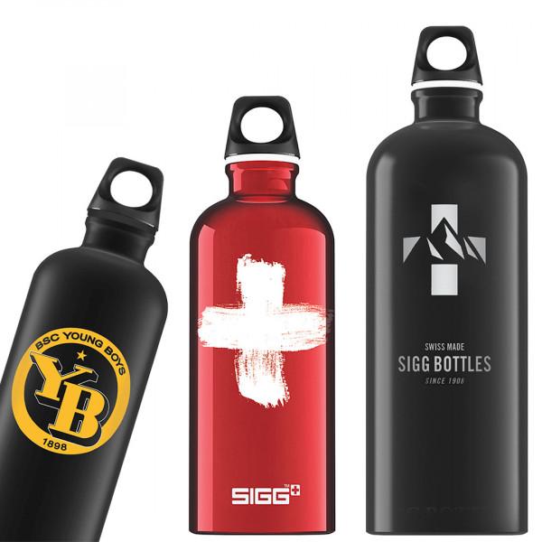 Nachhaltige SIGG Trinkflasche Traveller mit Drehverschluss in verschiedenen Größen mit Ihrem Logo bedrucken