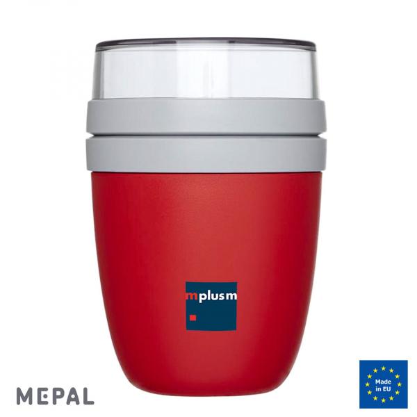 Lunchpot Ellipse von Mepal ist 100% auslaufsicher. Mit Logo zu bedrucken und ein nachhaltiger Werbeartikel.