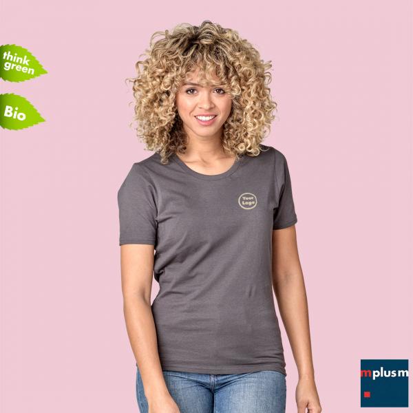 Bio Baumwolle T-Shirt Azurite Damen
