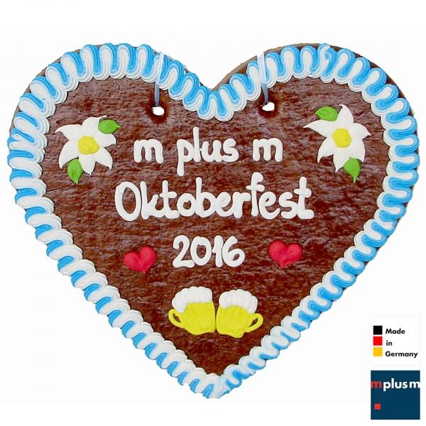 Lebkuchenherz mit Logo als Werbeartikel