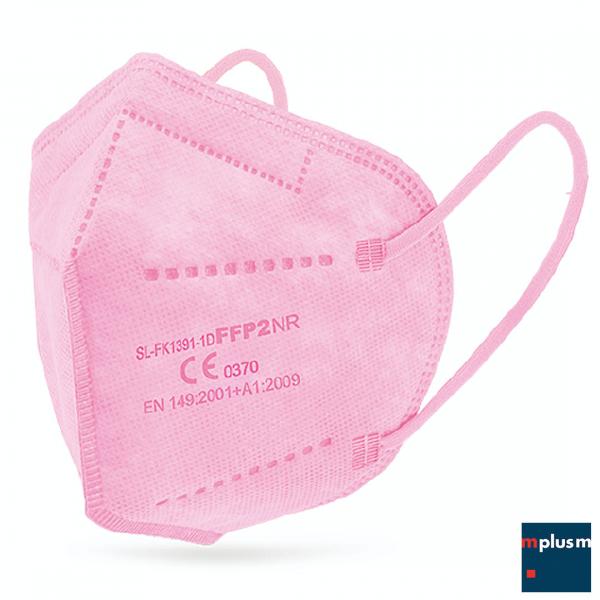 FFP2 Maske in Rosa bzw. Pink. In der Regel ab Lager lieferbar. Logo Druck auf Wunsch möglich.