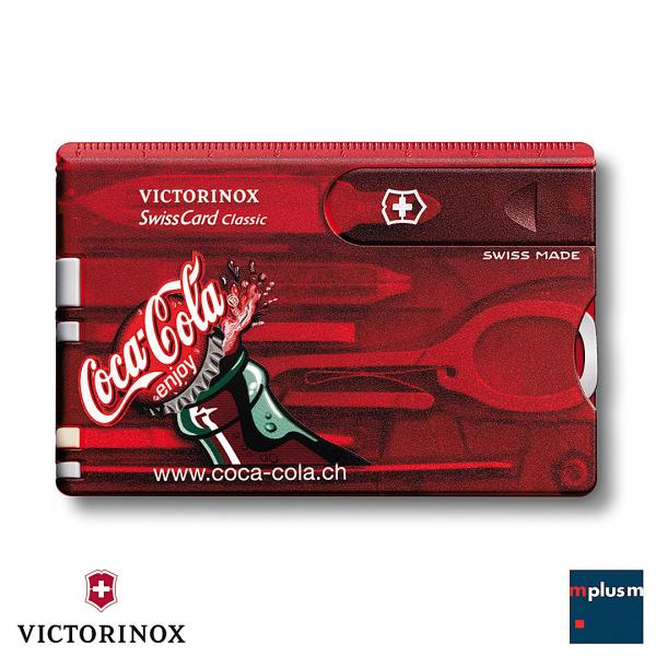 Swiss Card Classic in Rot. Nachhaltiger Werbeartikel und sehr schön mit Logo oder Motiv zu bedrucken.