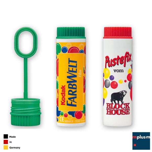 Pustefix Seifenblasen Made in Germany als Werbeartikel für Kinder