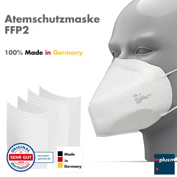 FFP2 Maske 'Made in Germany'. Für besten Qualität und besten Schutz hergestellt in Deutschland.