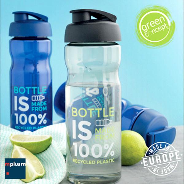 Nachhaltige Recycling PET Trinkflasche mit Logo-Druck.