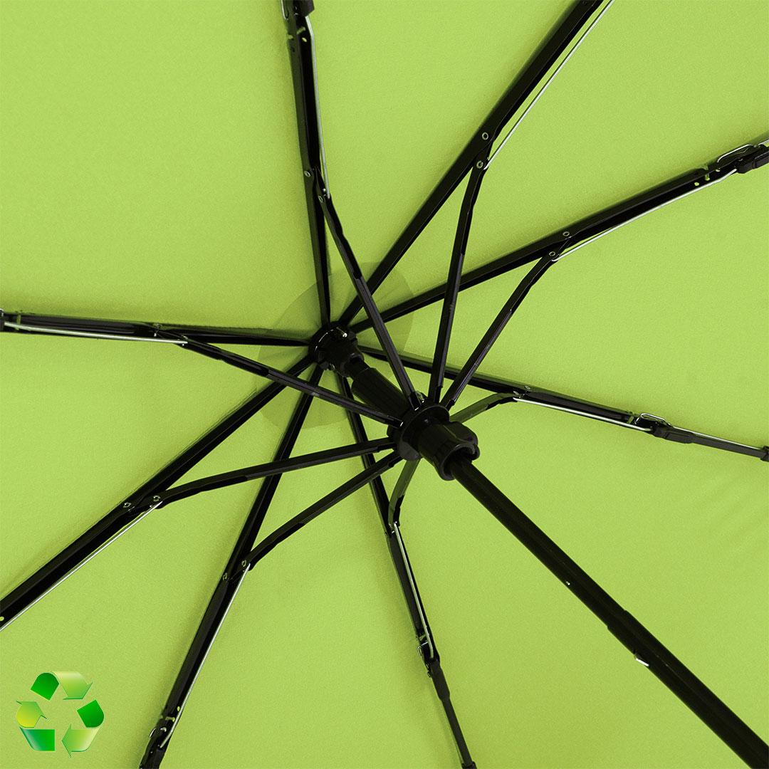 Recycling Material bei nachhaltigem Werbeartikel Schirm