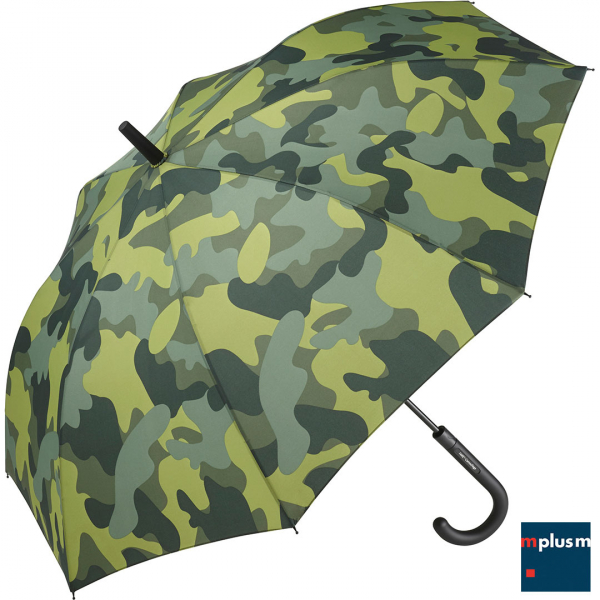 Schirm im Camouflage Design. Ab 48 Stück mit Ihrem Logo Druck als Werbeartikel.