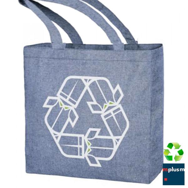 Nachhaltige Stofftasche aus Recycling Material. Groß mit Bodenfalte. Schön mit Logo zu bedrucken.