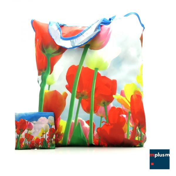 Falttasche-Blumen-PET-recycelt-BL