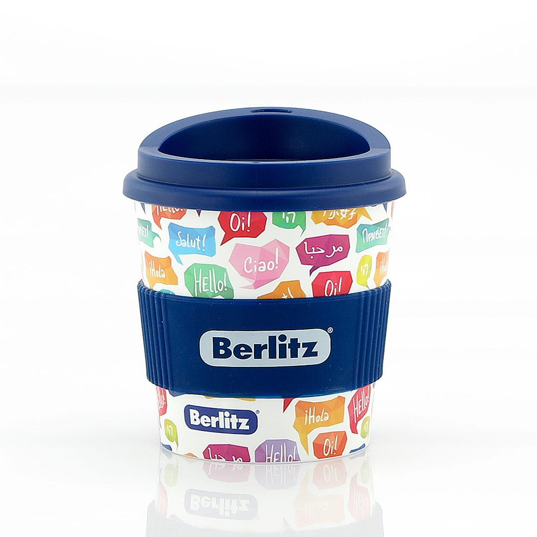Kleiner Coffee To Go Becher mit Logodruck