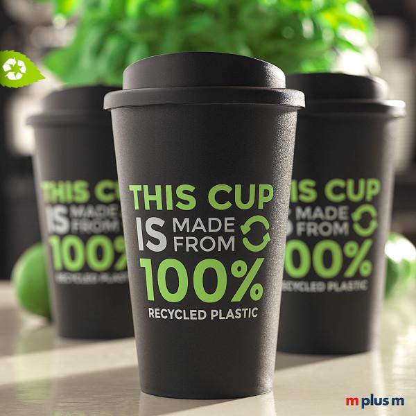 Recycling Thermobecher aus Europa mit Logo bedrucken