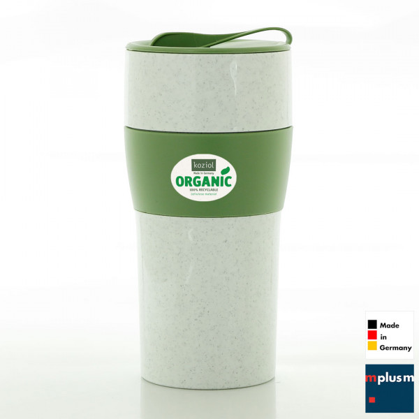 Nachhaltiger Coffee To Go Thermobehcer aus Organic Bio Kunststoff. Made in Germany und als Werebeartikel schön mit Logo zu bedrucken.