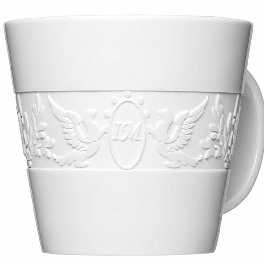 Logo Gravur auf Kaffeetasse