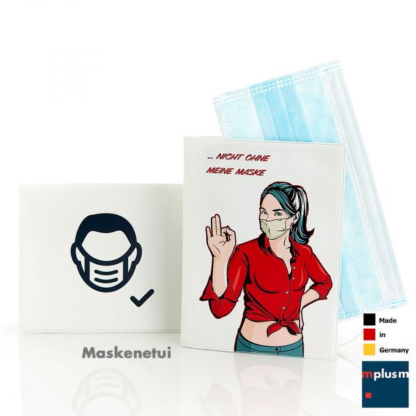 Maskentasche und Maskenetui 'Corona'. In Deutschland hergestellt und in drei Größen lieferbar.