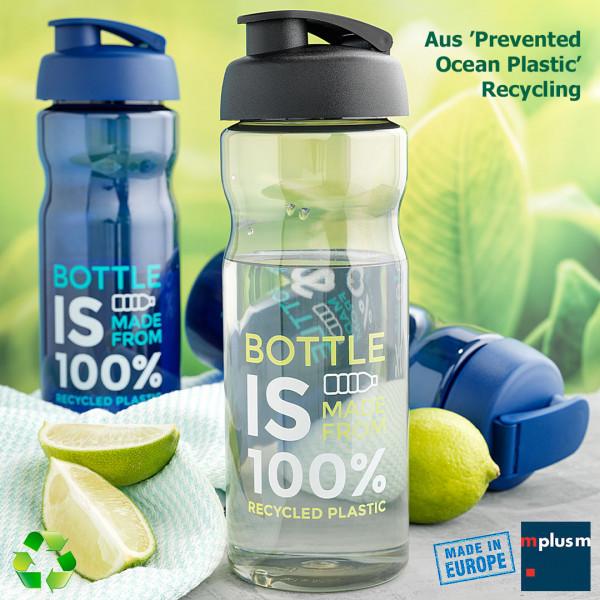 Nachhaltige Trinkflasche aos Prevented Ocean Plastic Recycling. Hergestellt in Europa und als Werbeartikel schön mit Logo zu bedrucken.