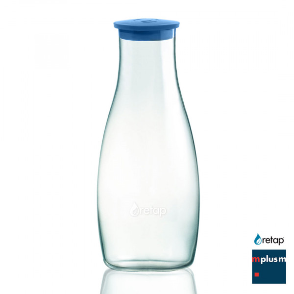 Nachhaltiger Werbartikel: Wasser Glas Karaffe von retap mit Logo bedrucken