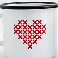 Emaille Tasse Werbeartikel aus Europa