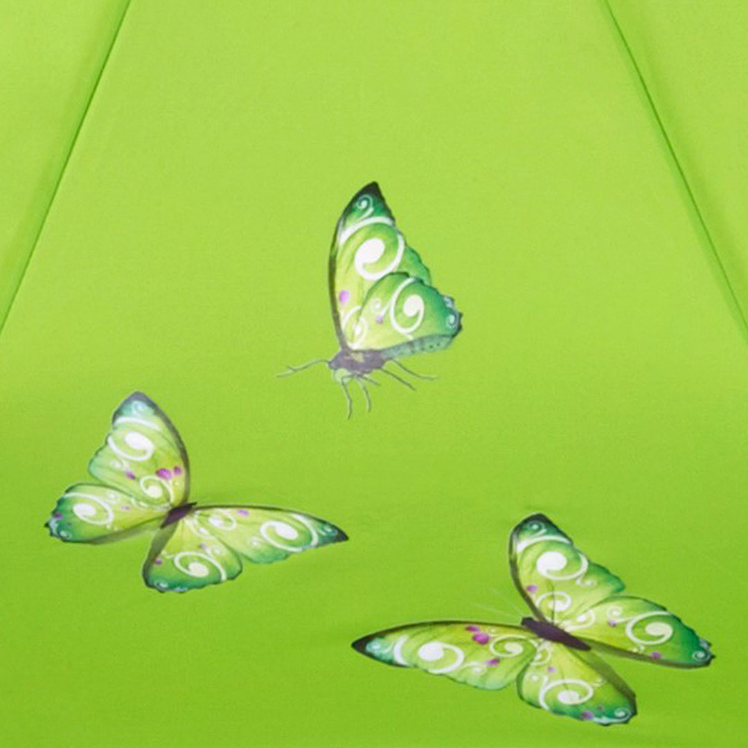 Schmetterlinge auf nachhaltigen Schirm drucken