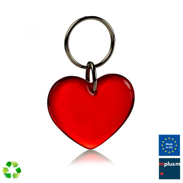 Herz Recycling Schlüsselanhänger