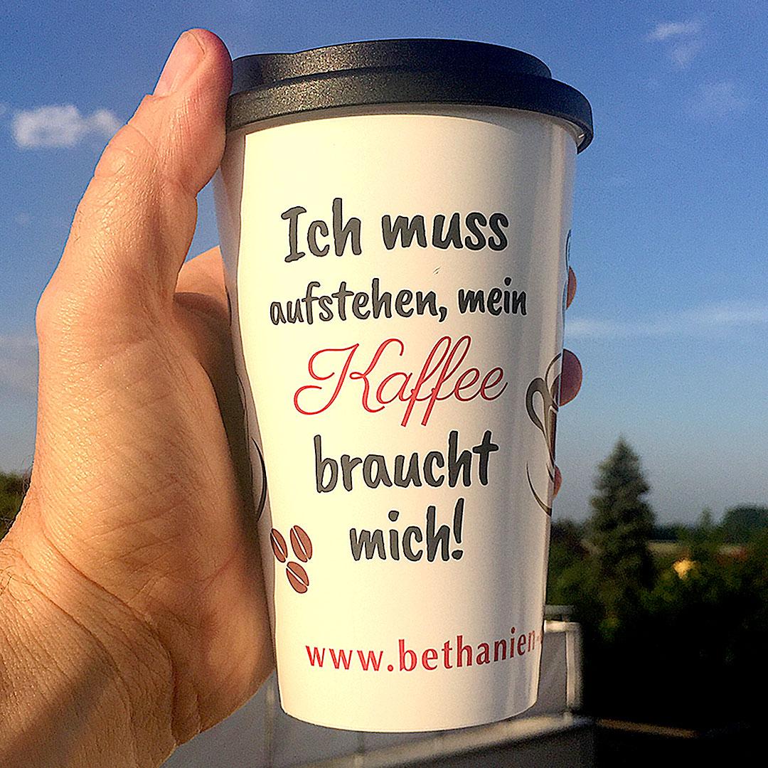 Mehrweg Kaffeebecher mit Druck aus Europa