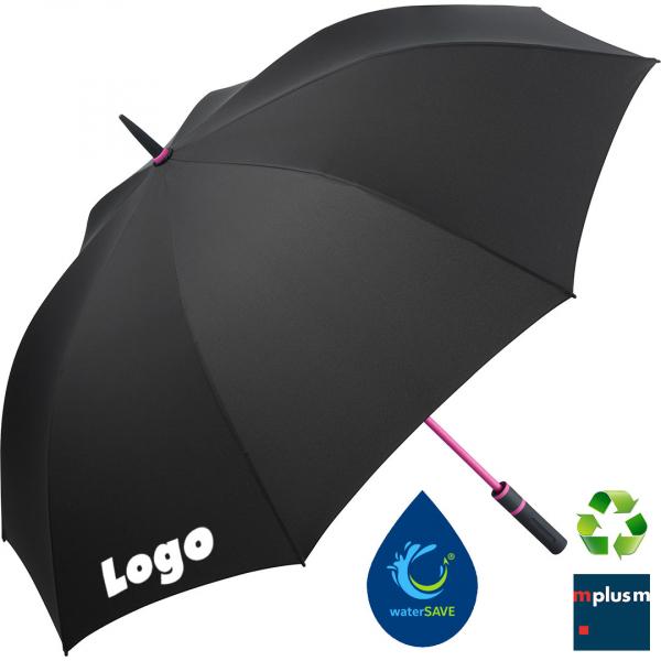 Schöner nachhaltiger Regenschirm Bilbao mit eigenem Logo bedruckem