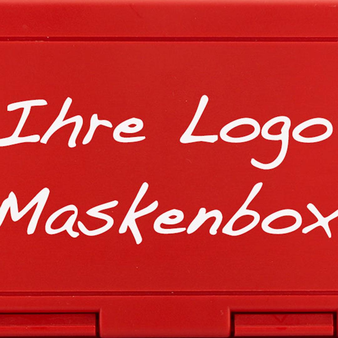 Maskendose für die Schutzmaske mit Logo bedrucken