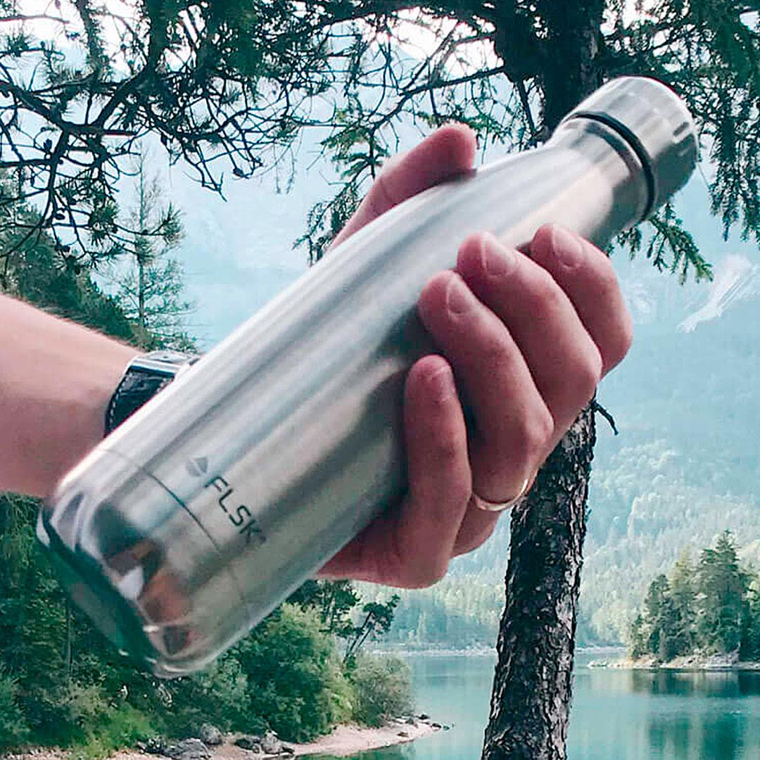 Mehrweg Wasserflasche FLSK