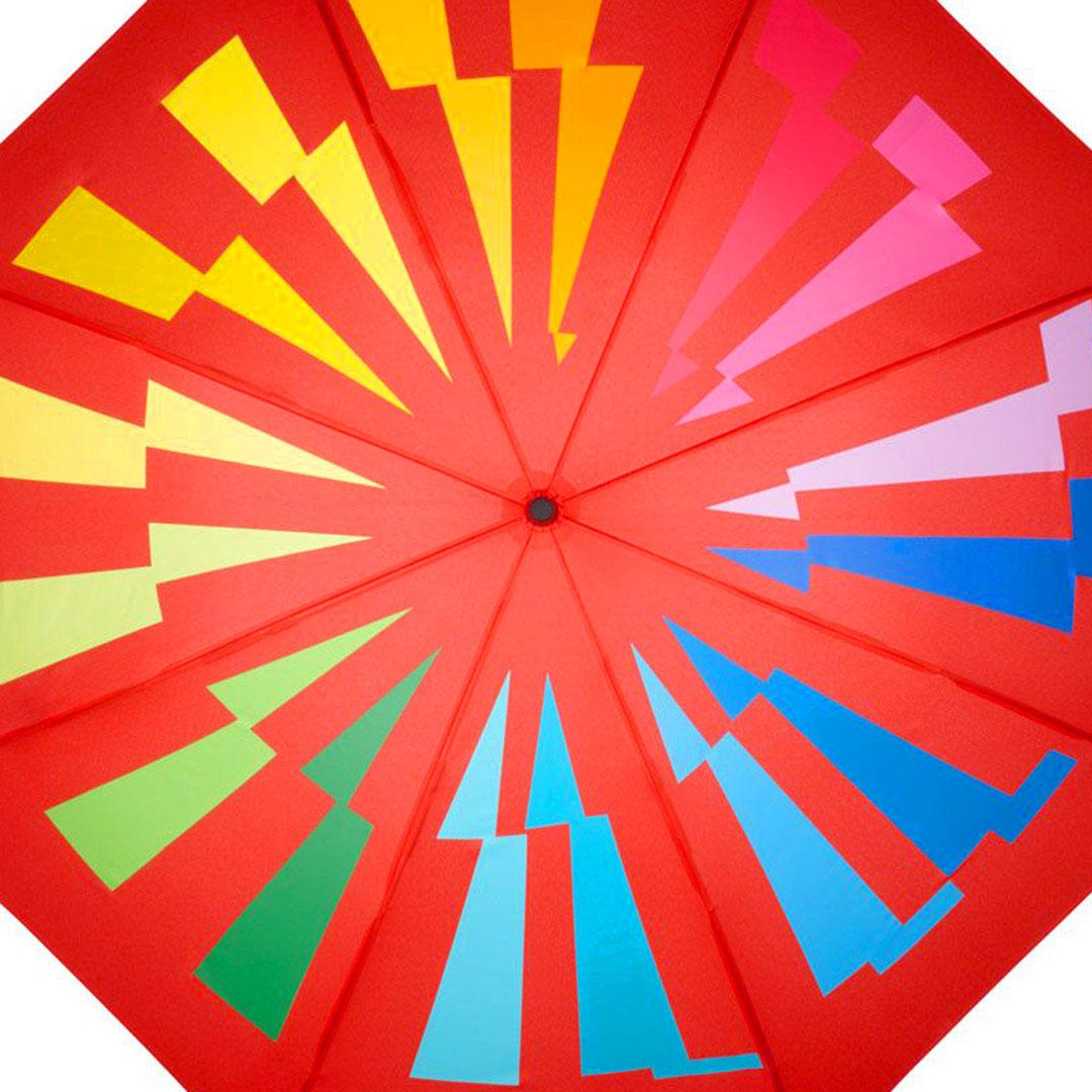 Nachhaltiger roter Werbeartikelschirm mit Logo Druck