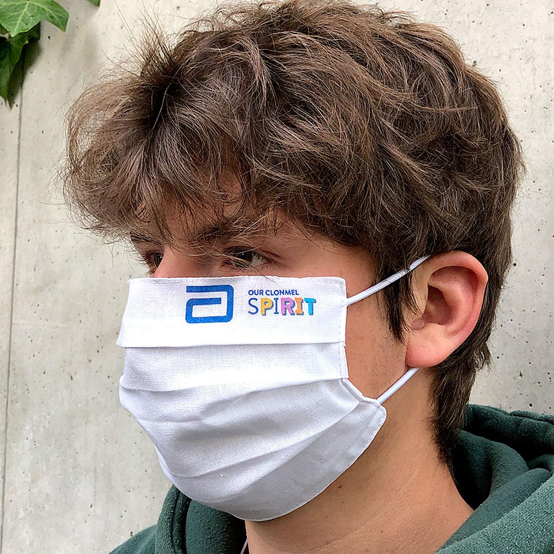 Alltagsmaske aus der EU mit Logo bedrucken